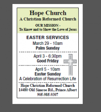 Easter Services at Hope CRC